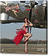 Beautiful 1940s Style Pin-up Girl Acrylic Print by Christian Kieffer