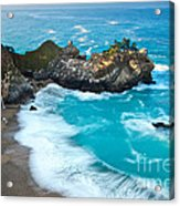 Beautiful Mcway Falls Along The Big Sur Coast. Acrylic Print