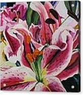 Becky's Lilies Acrylic Print