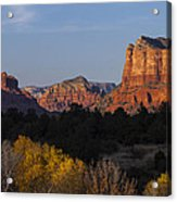 Bell Rock And Courthouse Butte Acrylic Print