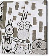 Berlin Wall Avatars Acrylic Print