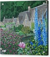 Bibury Gardens Acrylic Print