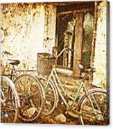 Bikes And A Window Acrylic Print