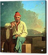 Bingham's Mississippi Boatman Acrylic Print