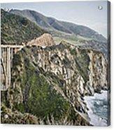 Bixby Bridge Vista Acrylic Print