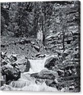 Black And White Waterfall Acrylic Print