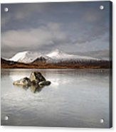 Black Mount And Lochan Na H-achlaise Acrylic Print