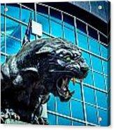 Black Panther Statue Acrylic Print