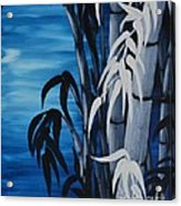 Blue Bamboo Acrylic Print by Holly Donohoe