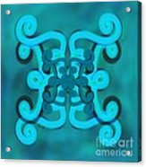 Blue Double Scroll Acrylic Print