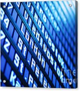Blue Flight Board Acrylic Print
