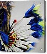 Blue Headdress Acrylic Print