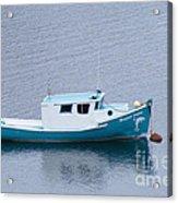 Blue Moored Boat Acrylic Print