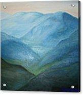 Blue Mountain Ridges Acrylic Print by Glenda Barrett