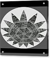 Bnw Black N White Star Ufo Art  Sprinkled Crystal Stone Graphic Decorations Navinjoshi  Rights Manag Acrylic Print