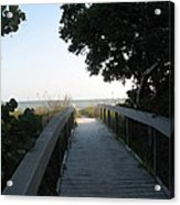 Boardwalk To The Beach Acrylic Print