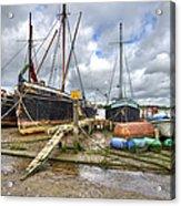 Boats On The Hard At Pin Mill Acrylic Print
