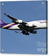Boeing 747-400 Of Thai International Acrylic Print