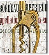 Bordeaux Blanc 2 Acrylic Print by Debbie DeWitt