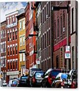 Boston Street Acrylic Print by Elena Elisseeva
