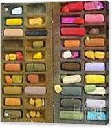 Box Of Pastels Acrylic Print by Bernard Jaubert