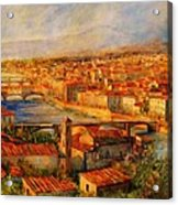 Bridges Of Florence Acrylic Print