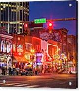 Broadway Street Nashville Acrylic Print