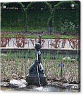 Brooklyn Botanical Gardens Fountain Acrylic Print
