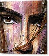 Brown Iris Entangled Acrylic Print