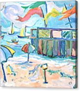 Buckroe Beach - En Plein Air Acrylic Print