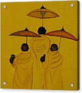 Buddha Monks Acrylic Print