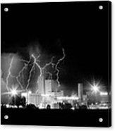 Budweiser Lightning Thunderstorm Moving Out Bw Acrylic Print by James BO  Insogna