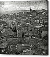 Calahorra Roofs From The Bell Tower Of Saint Andrew Church Acrylic Print by RicardMN Photography