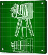 Camera Patent 1885 - Green Acrylic Print