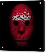 Capitals Jersey Mask Acrylic Print