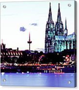 Cathedral And Rhine River Acrylic Print