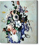Cezanne's Flowers In A Rococo Vase Acrylic Print