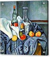 Cezanne's The Peppermint Bottle Acrylic Print
