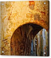 Chania Alley Acrylic Print