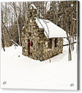 Chapel In The Woods Stowe Vermont Acrylic Print