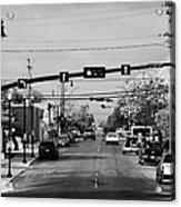 chaplin street main street through swift current Saskatchewan Canada Acrylic Print