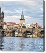 Charles Bridge In  Prague Acrylic Print