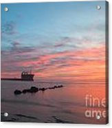 Charleston Harbor Sunset Acrylic Print