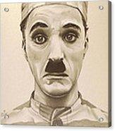Vintage Charlie Chaplin Acrylic Print