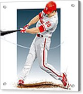 Chase Utley Acrylic Print by Scott Weigner