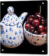 Cherries Invited To Tea Acrylic Print