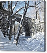 Cheshire Railroad Bridge Acrylic Print