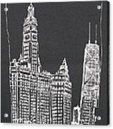 Chicago Wrigley And Hancock Buildings Acrylic Print