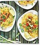 Chicken Noodles Acrylic Print