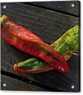2 Chilies Acrylic Print